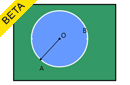 Angle at the centre of a circle by an arc